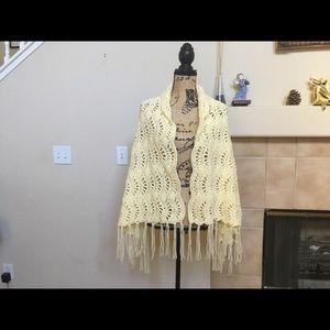 Prayer shawl in crochet.